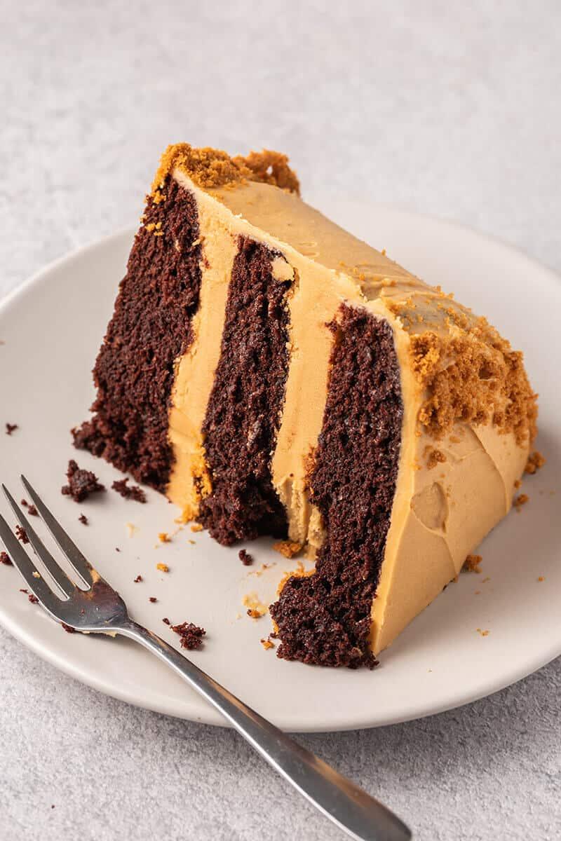 Biscoff spread cake