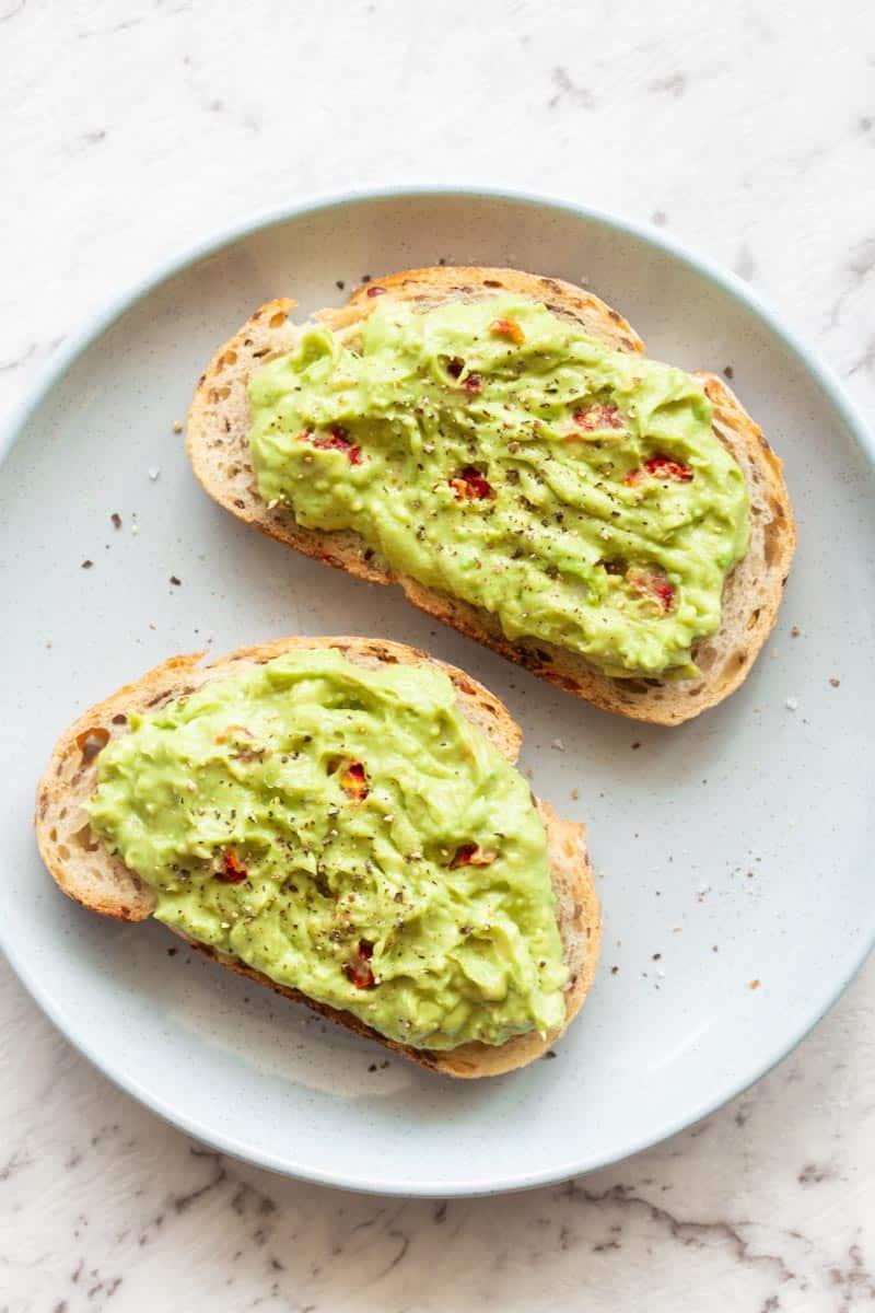 low carb avocado toast
