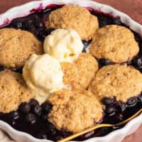 keto blueberry cobbler