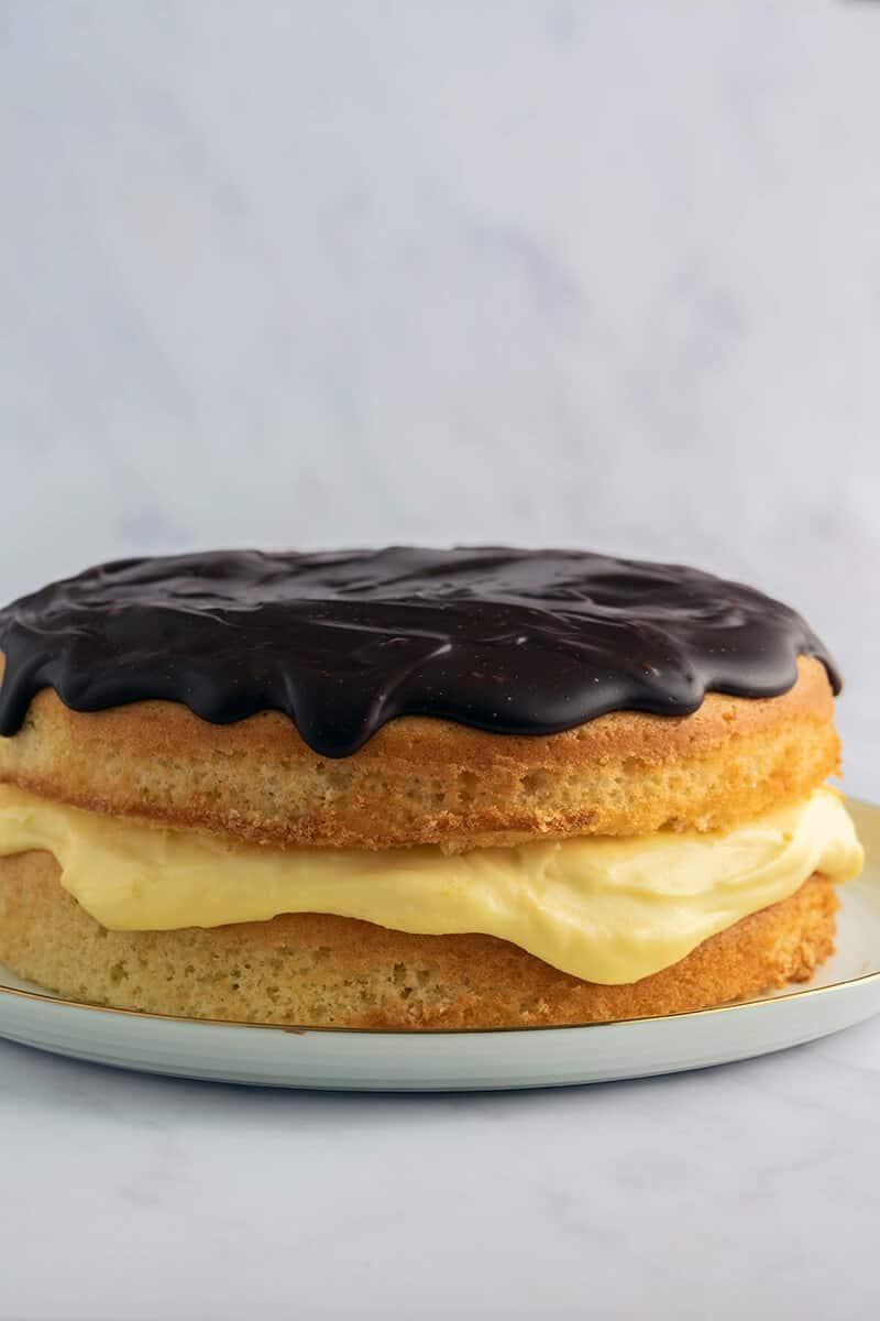 low carb Boston cream pie