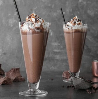 keto chocolate milkshake