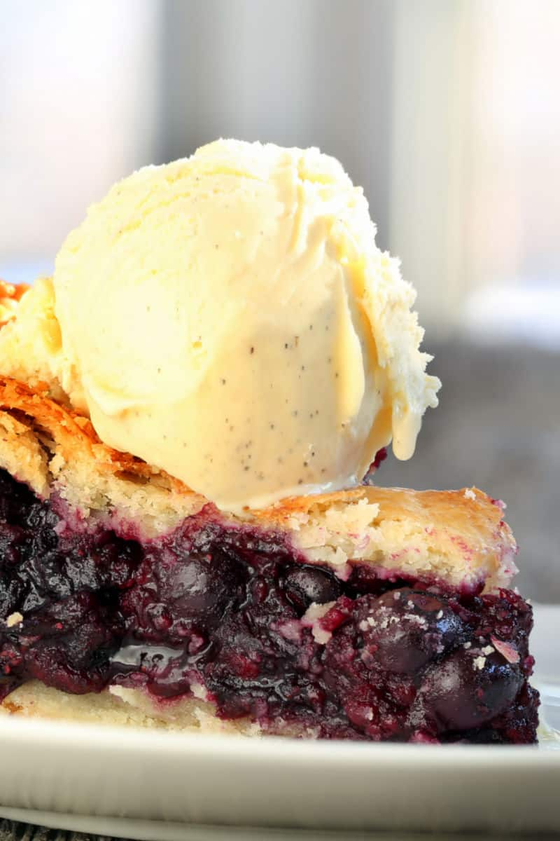 low carb blueberry pie