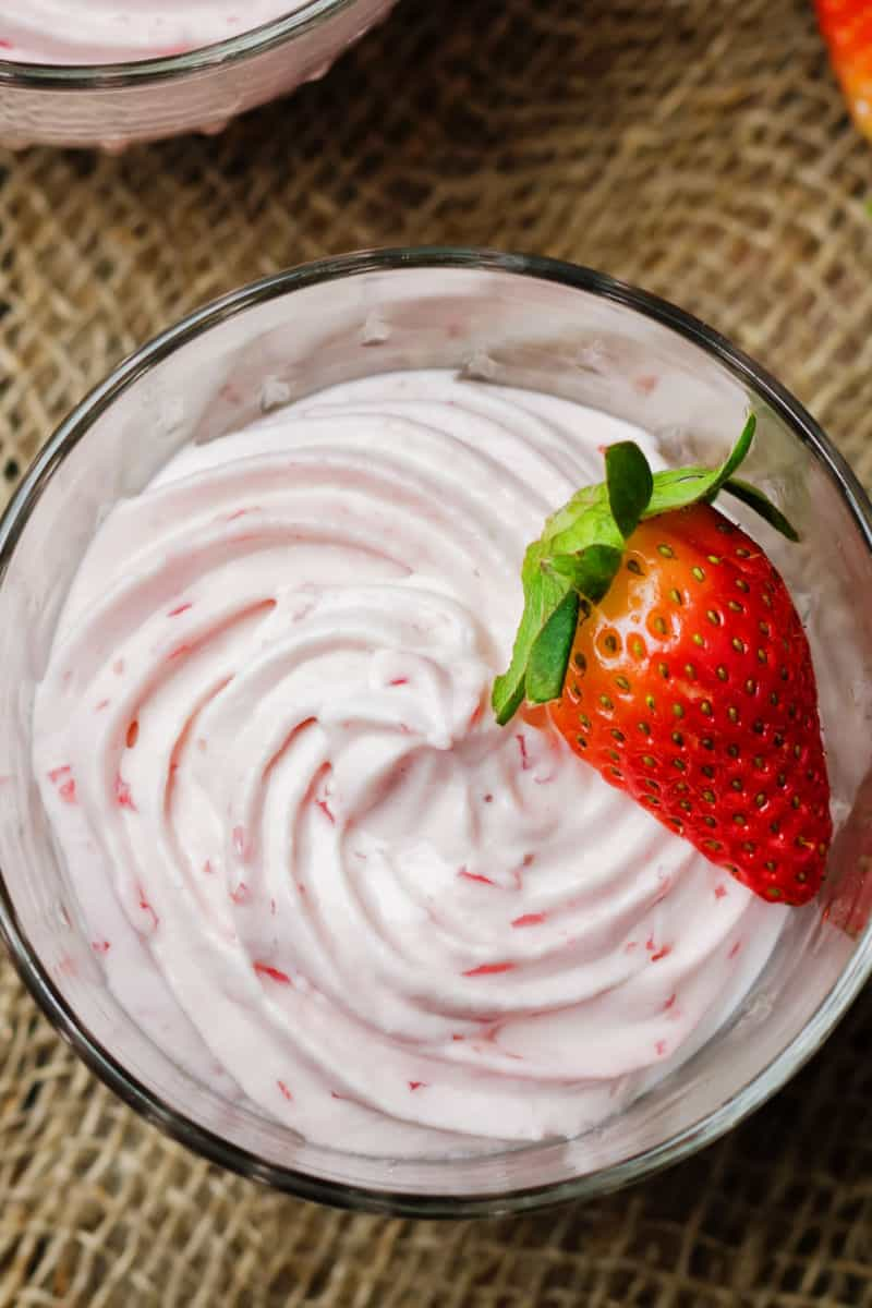 low carb strawberry mousse