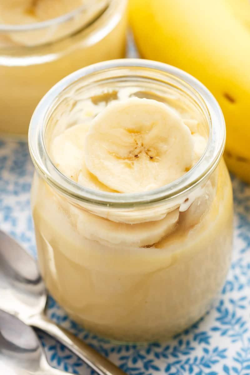 low sugar banana pudding
