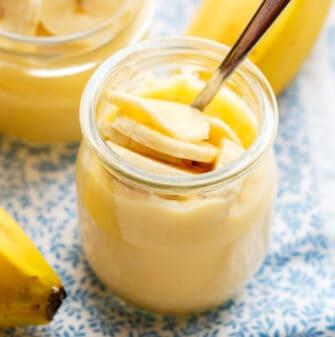 healthy banana pudding