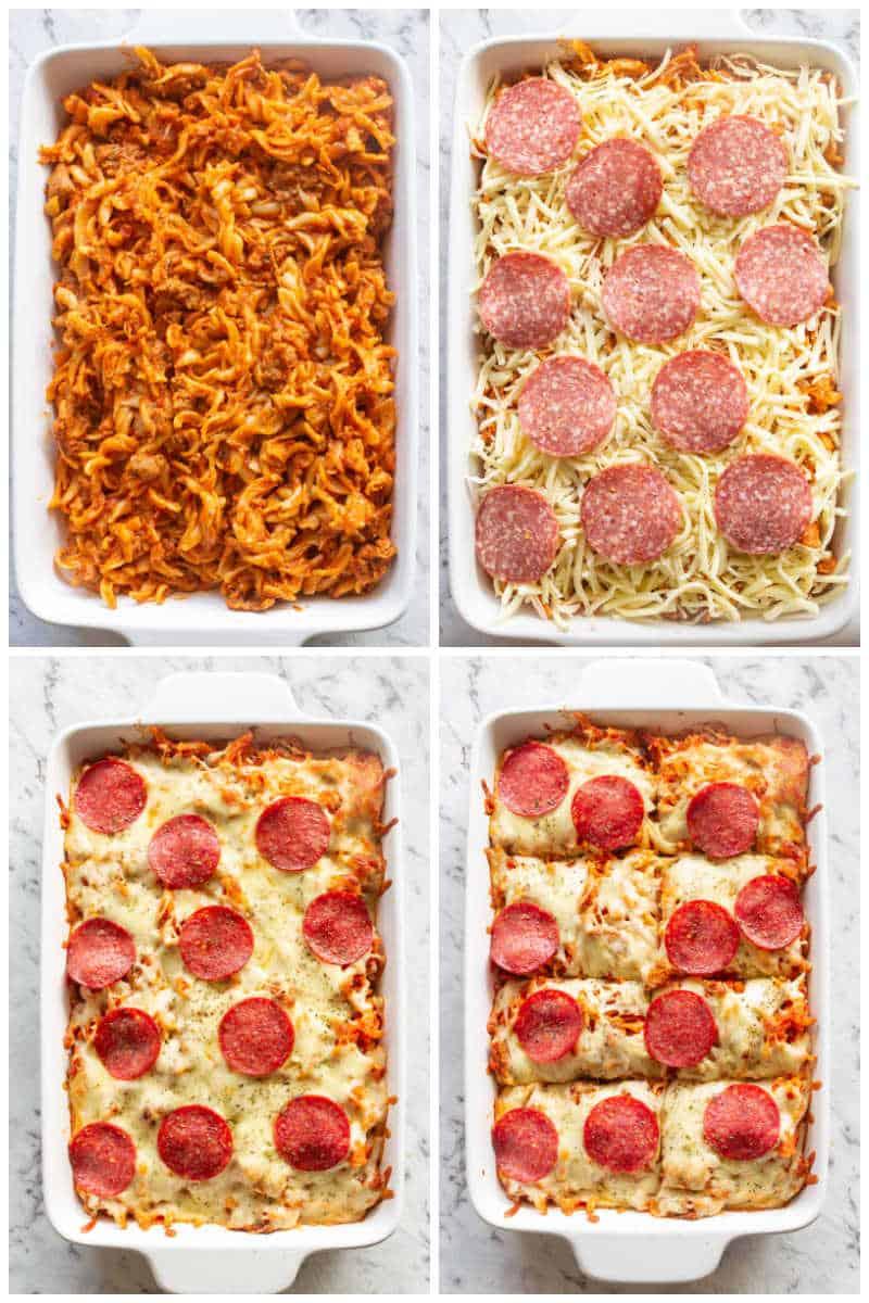 low carb pizza casserole