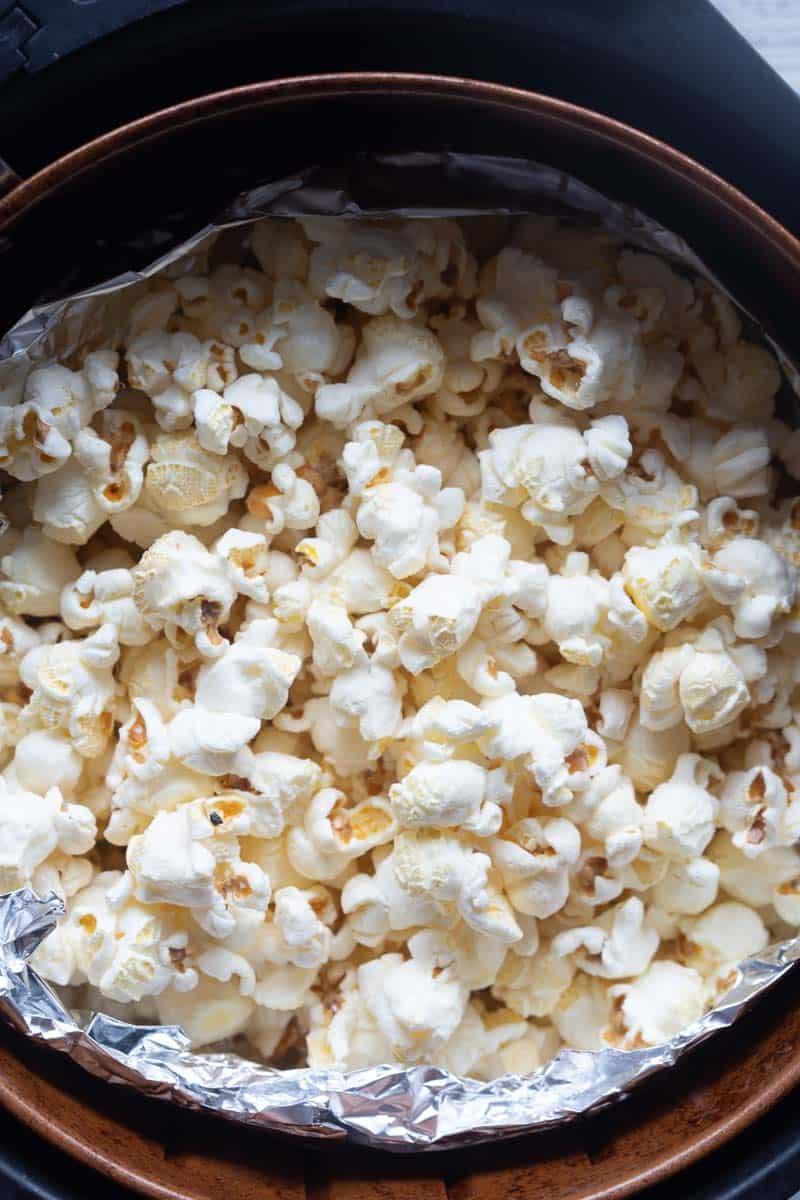 air fried popcorn
