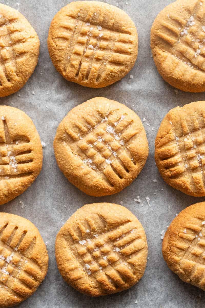 low sugar peanut butter cookies