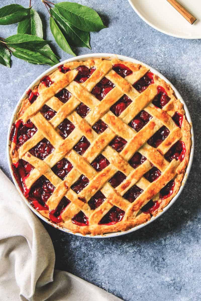 low carb cherry pie