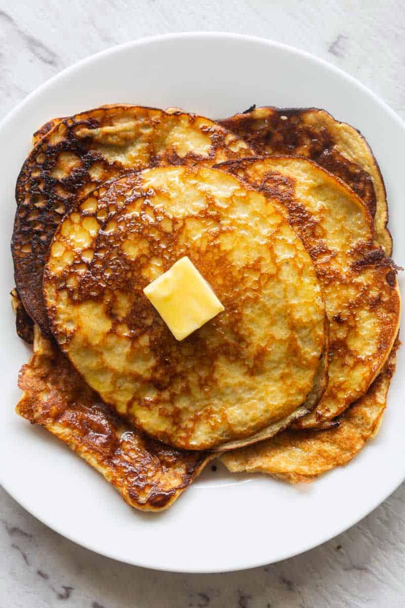 two ingredient banana pancakes