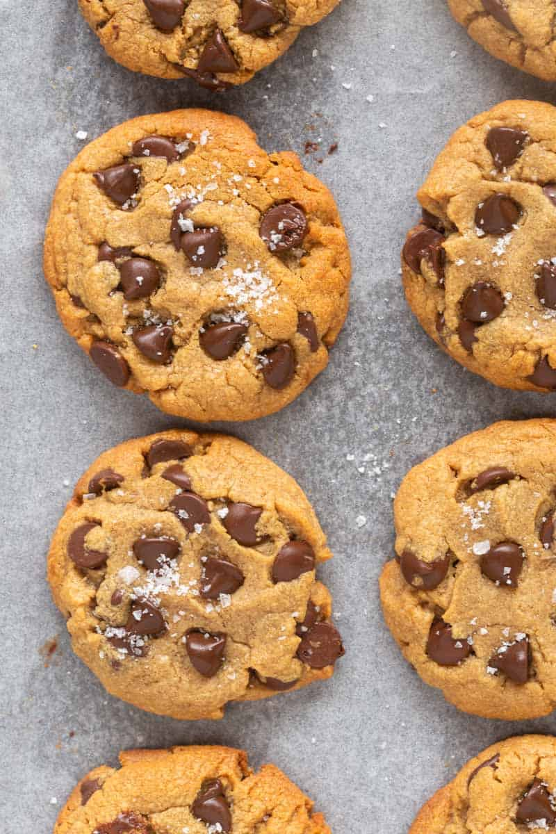 3 ingredient peanut butter chocolate chip cookies