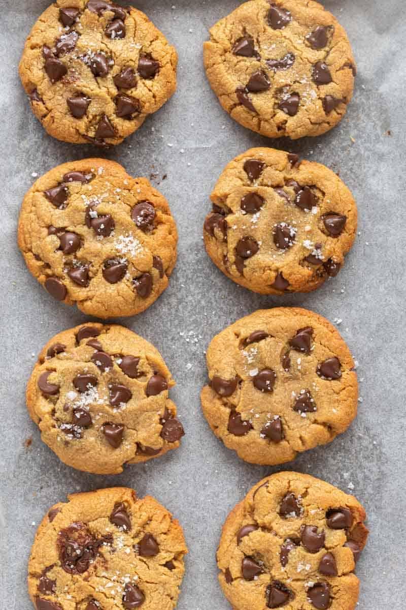 three ingredient chocolate chip cookies