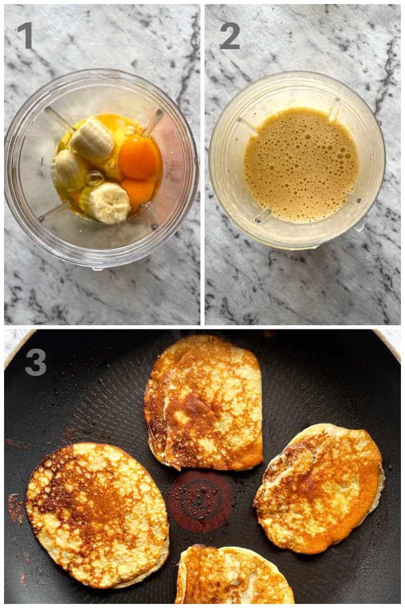 how to make 2 ingredient banana pancakes