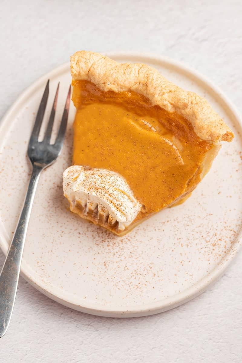 low sugar pumpkin pie