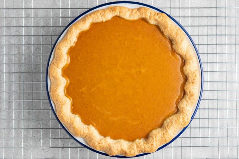 healthy homemade pumpkin pie