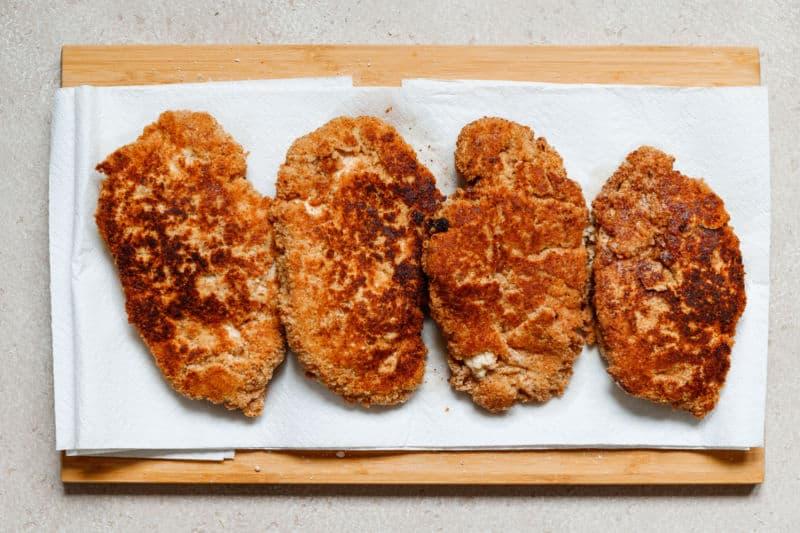 fried chicken breast cutlets