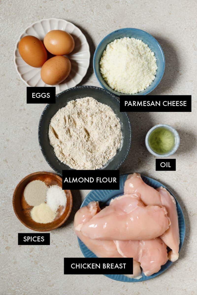 keto chicken parmesan ingredients