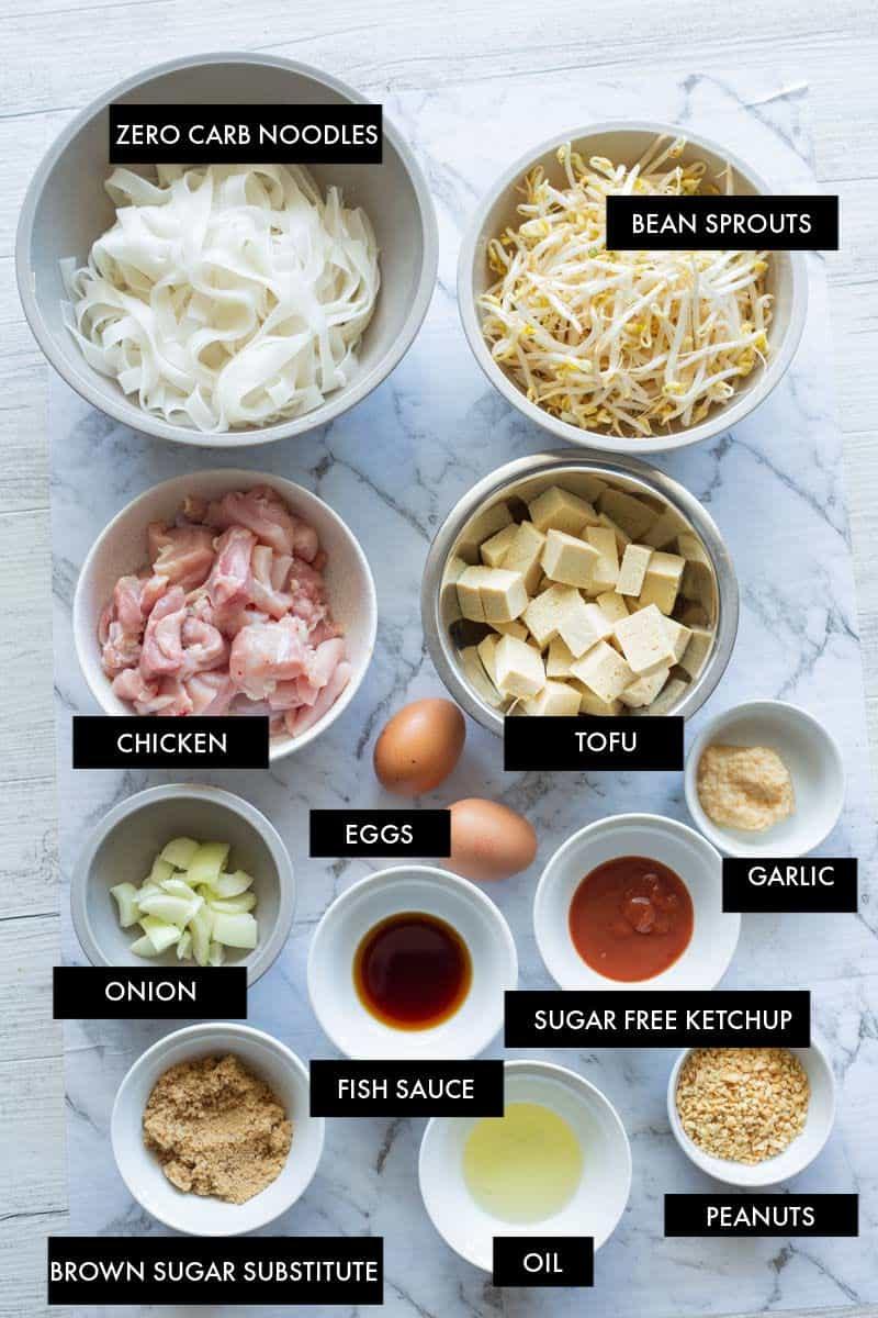 keto pad thai ingredients