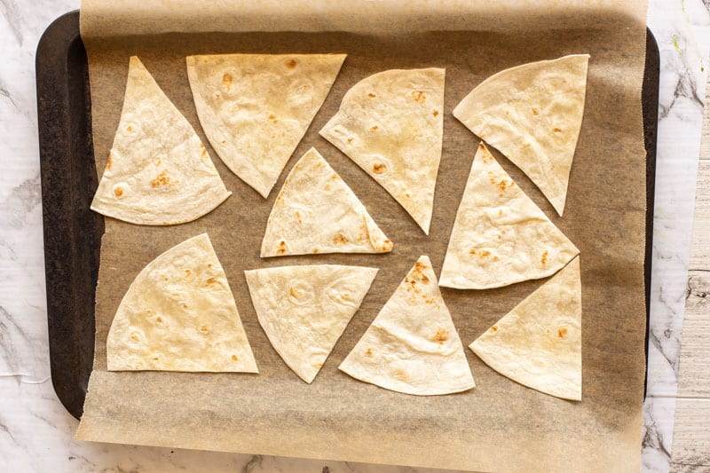 uncooked tortilla chips