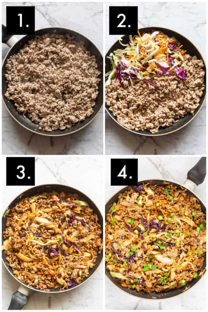 how to make egg roll in a bowl