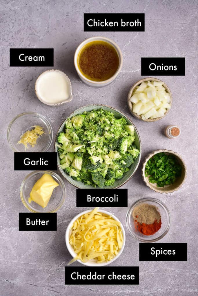 keto broccoli cheese soup ingredients